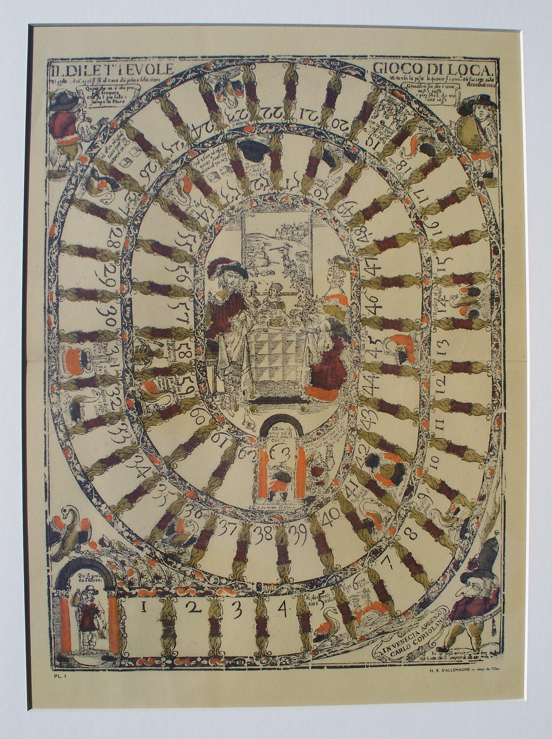 juego de la oca – año 1640