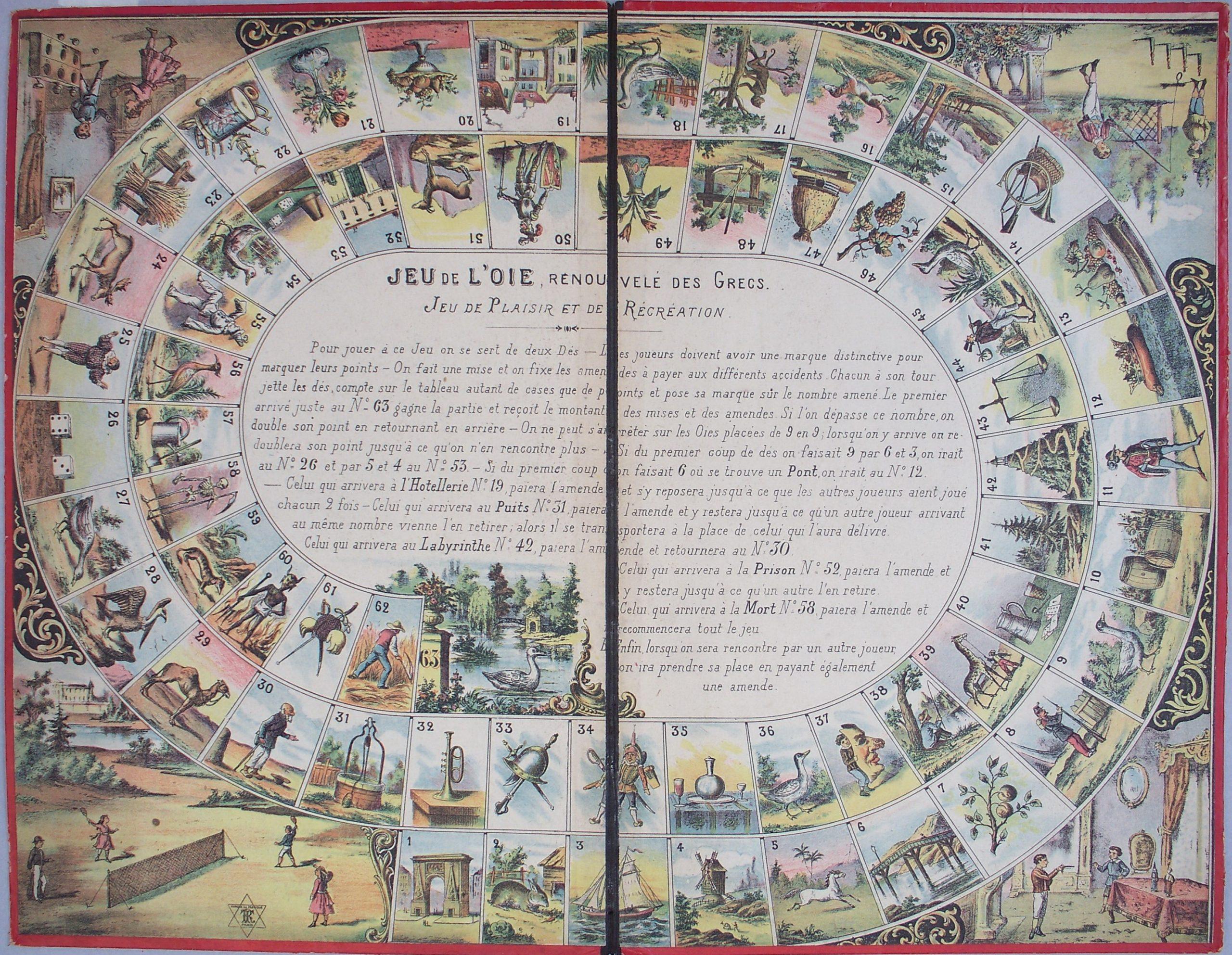juego de la oca – año 1907