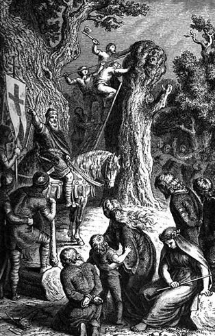 Irminsul destruido por Carlomagno