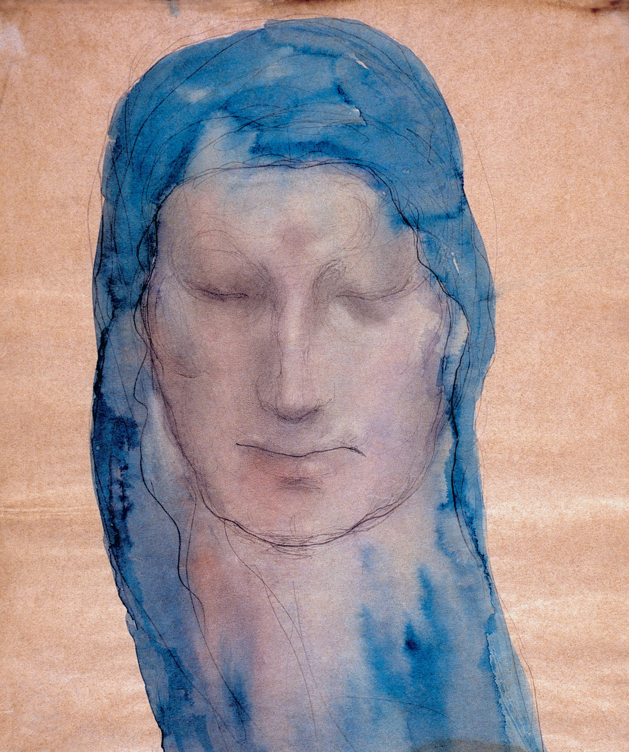 Face of a Woman With a Blue Veil 1909