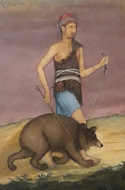 Derviche con león (Padarath, siglo XVII)