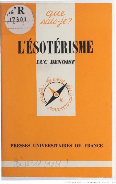 El Esoterismo - Luc Benoist